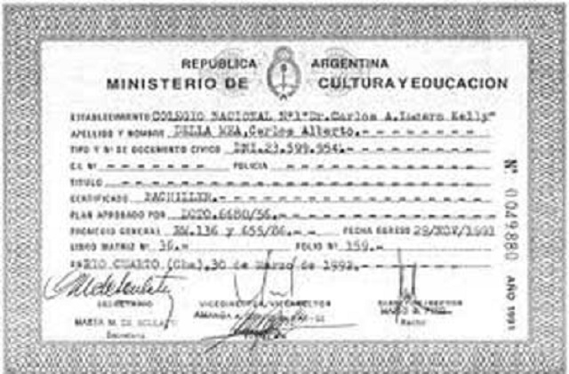 CERTIFICADO ANALITICO - rpargentina.com