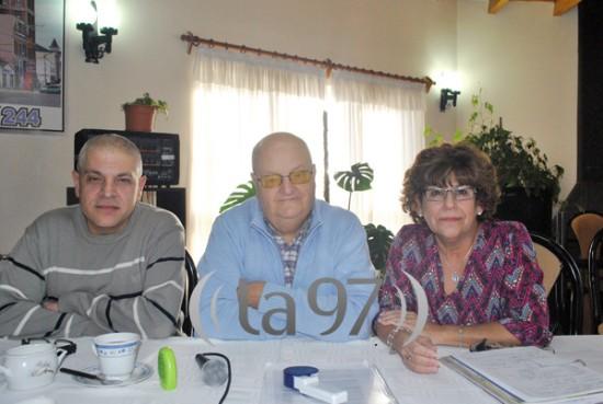 Pablo Imboden (medio), junto a Luis Boy y Silvia Pereyra