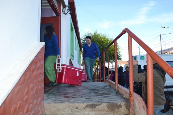 31 de marzo: Médicos transportan órganos desde el Hospital Río Grande.