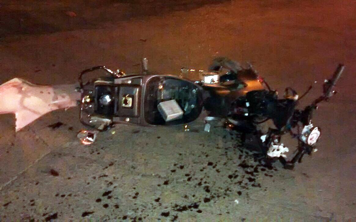 Resultado de imagen para accidente moto noche