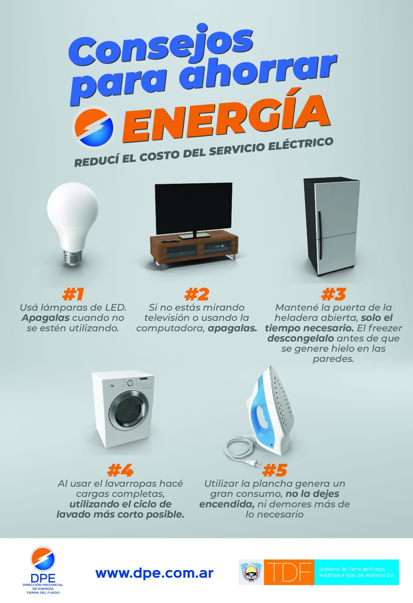 Consejos para Ahorrar Energía - GTDF (aviso)