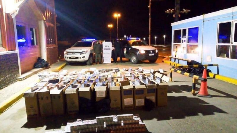 En lo que va del año se secuestraron 160 mil atados de cigarrillos de contrabando en TDF