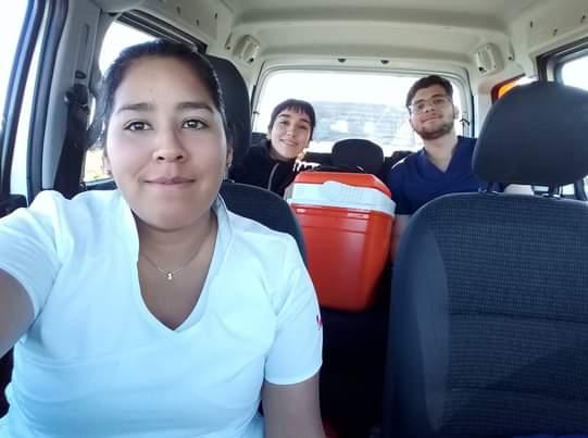 Aylén Flores, una enfermera recibida en pandemia