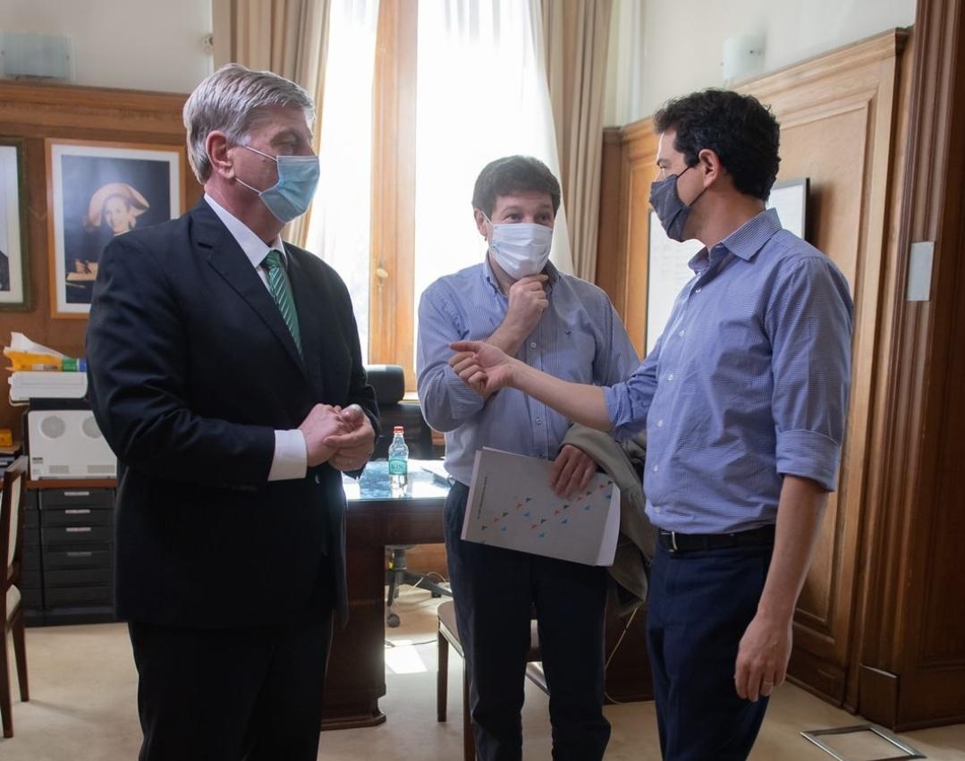 Wado de Pedro recibió en Casa Rosada a Gustavo Melella